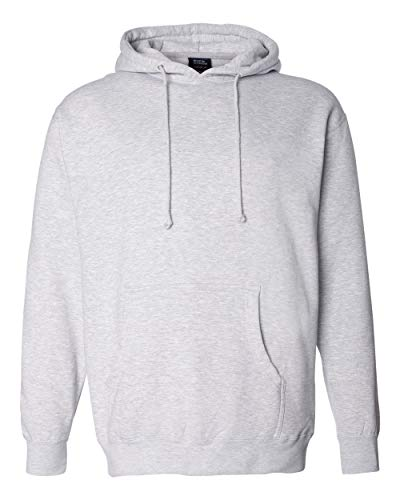 Independent Trading Co. Hooded Pullover Sweatshirt (IND4000) -Grey Heath -XL