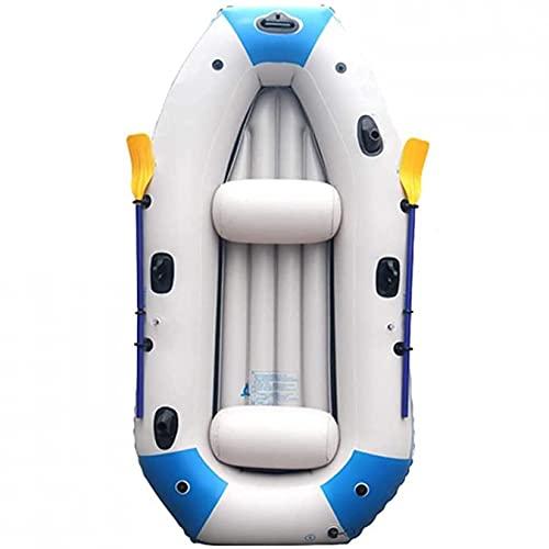 KUANDARMX Kayak Inflable para 3 Personas, Bote Inflable De PVC Antidesgaste, Bote De Pesca, Canoa, Kayak, Resistente Al Desgarro, Fácil De Montar, Bote A La Deriva Plegable