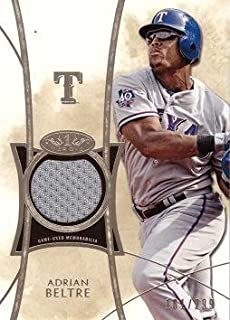 2014 Topps Tier One Relics #TOR-AB Adrian Beltre Game Worn Jersey Baseball Card - Only 299 made! - Near Mint to Mint