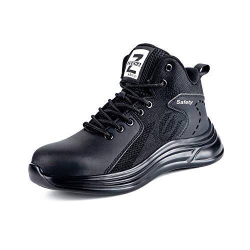 Chaussures de sécurité pour homme S3 - Légères et hautes - Respirantes - Avec embout en acier - Tailles 39-46