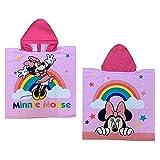 GLOBAL LICENCE SRL Poncho Mare Minnie Mouse Disney Asciugamano Accappatoio MICROCOTONE CM110X55 100%PL - MIN1570