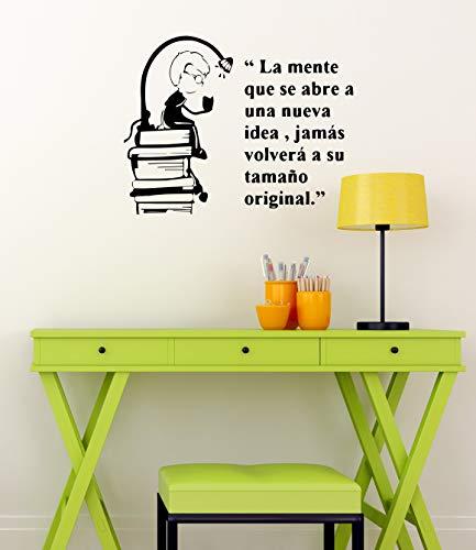 Adesivo da parete in vinile con libro spagnolo, per studio di lettura, camera da letto, decorazione da parete rimovibile, A, 42X33cm
