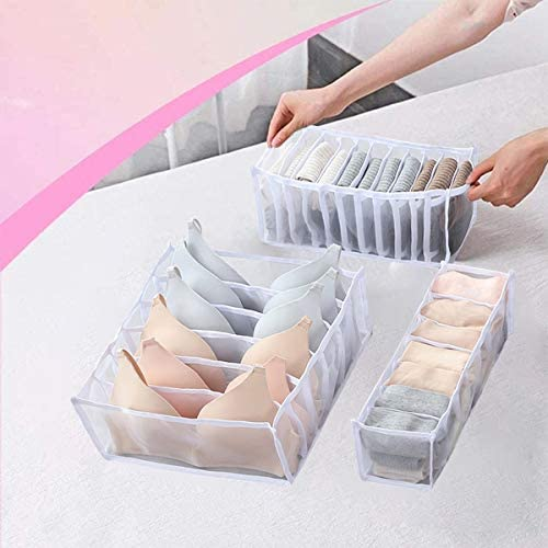 3 Pcs Underwear Organizer Drawer Divider Foldable Breathable Storage Boxes Closet Dividers Dresser product image