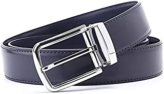 YOUNKING Genuine Leather Business Belt Classic Style Silver Color Alloy Buckle 3.4cm Wide Workplace Belt Customized For Young Elite Crowd
