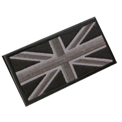 REFURBISHHOUSE Fashion Union Jack UK Flagge Abzeichen Patch Stick ZurüCk 10 X 5 cm NEU, (Schwarz/Grau)