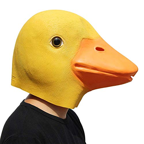 PartyCostume - Ente Maske - Halloween Latex Tier Den Kopf Voll Maske