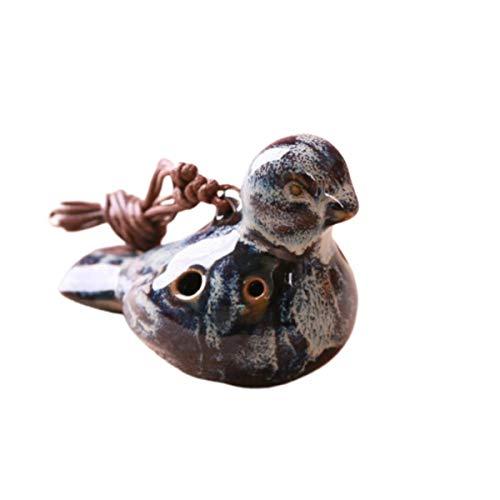 Holibanna 6 Löcher Ocarina Vogelform Keramik Okarina Tragbares Musikinstrument Geschenk für Anfänger Professionelle Darsteller