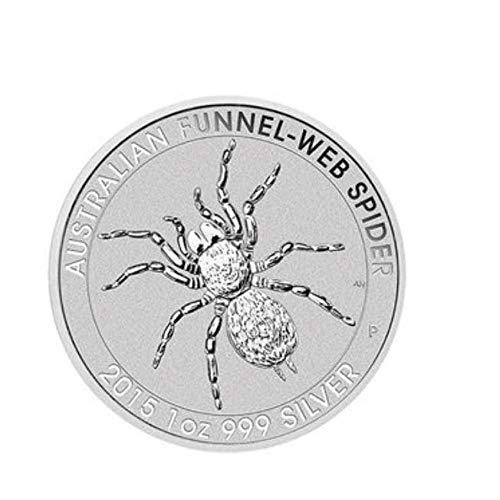 XCDJF Australian Animal Challenge Münze Süße Spinne Versilberte Gedenkmünze Elizabeth II Kollektion Silbermünze Größe: 40 * 3mm, Material: Versilbert