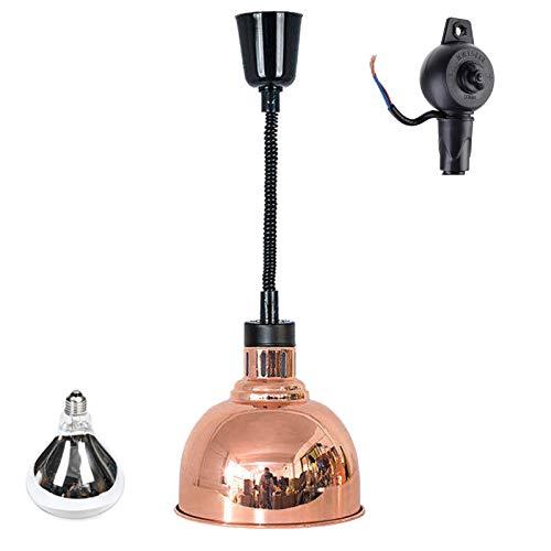 YDDHQ Lampada di Calore Alimentare in Acciaio Inossidabile Commerciale, Lampada per Scaldavivande Buffet Forniture per Ristoranti Attrezzatura da Cucina, 220V / 250W