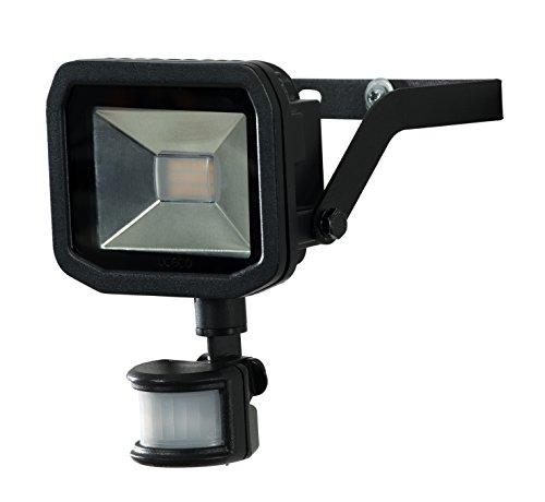 luceco lfsp18b130 de l'UE A +, Spot Projecteur à LED avec détecteur de mouvement, aluminium 22 watts, Noir, 15,5 x 6,2 x 15,5 cm