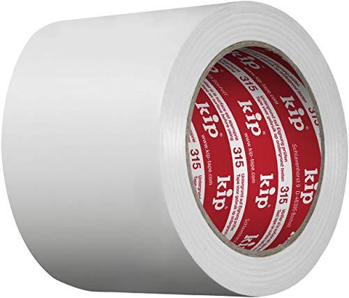 Kip 315-59 PVC Schutzband zum Abkleben und Abdecken beim Streichen und Lackieren auf Kunststoff Weiß 100 mm x 33 m