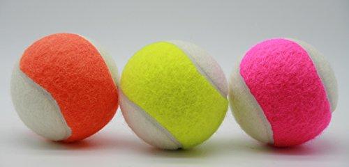 Price's 2 Tone Colour tennis Balls Mixed pack(set of 3 (orange&white, yellow&white, pink&white))