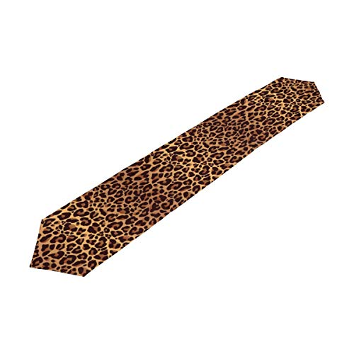 XMCL Table Runner Animal Leopard Print Table Cloth Long Rectangle Table Decor for Home Kitchen Dinner Party