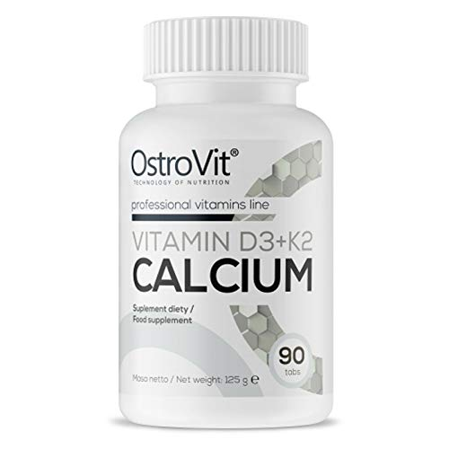 Vitamin D3 + K2 + Calcium | Increase Immunity | Healthy Bones and Teeth Support | Dietary Supplement (90 Tablets = 1 Bottle)