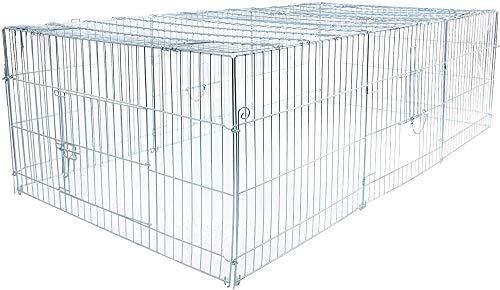 Ideal für die Verschlüsselung fett Käfig Käfige Kaninchen Käfig Taube Draht Zucht Wachtel Küken Transportkäfig, Kleintiere,Cm 216 x 116 x 65