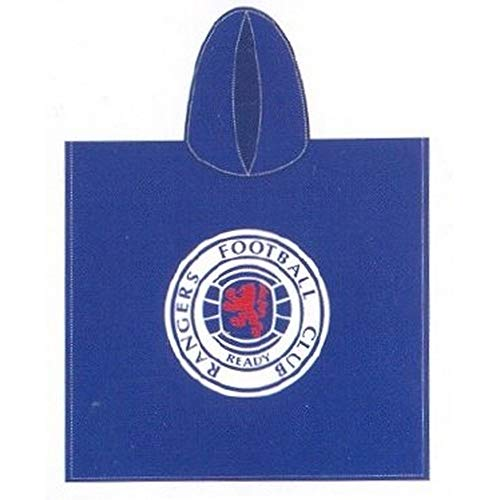 Glasgow Rangers FC Official Childrens Hooded Poncho Towel
