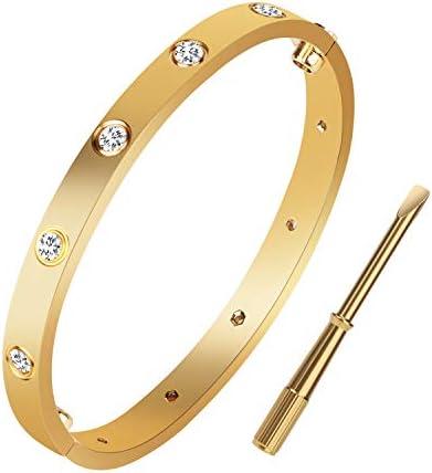 Love Bracelet Titanium Stainless Steel Bangle Screw Bracelet with Screwdriver Screw Bracelets product image