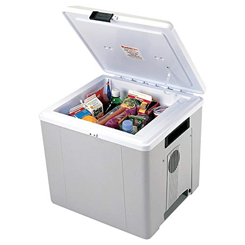 Koolatron Voyager P27 Thermoelectric Iceless 12V Cooler Warmer, 27.5L / 29 Quart Capacity, For Camping, Travel, Truck, SUV, Car, Boat, RV, Trailer, Tailgating, Made in North America