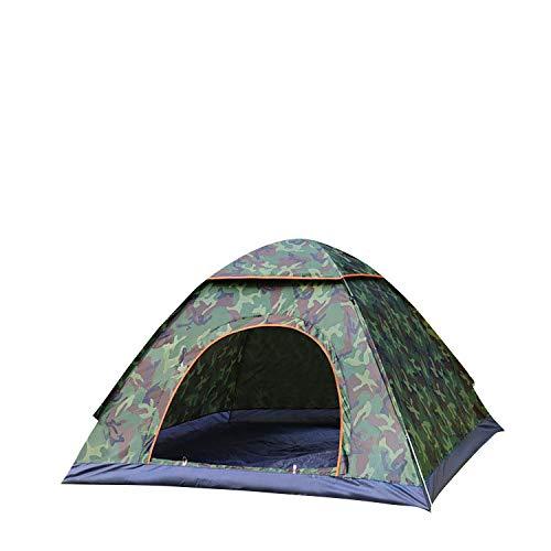 thematys® Campingzelt Wandern Outdoor 2 Mann Reise Trekking Outdoorzelt leichtes Pop Up Wurfzelt für 1 bis 2 Personen Zelt Camping Festival Sekundenzelt mit Tragetasche (Camo, 1-2 Personen)