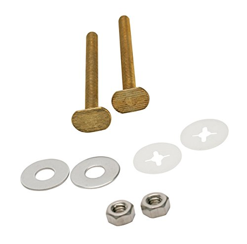 Fluidmaster 7111 Universal 3-Inch Bowl to Floor Bolts, Includes 2 Brass Bolts