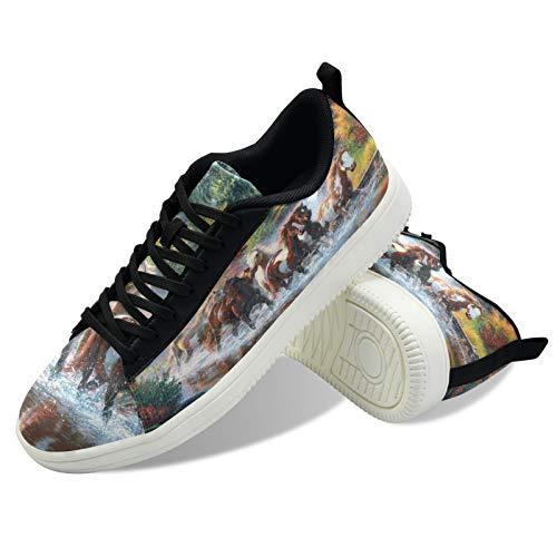 ODAWA Zapatos de monopatín de huevos de Pascua para hombres de lona para deportes al aire libre US 7, (Cascada de caballo de otoño), 44 EU