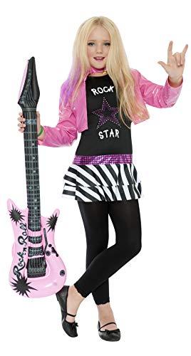 Smiffys Costume rock star glamour, Noir, avec haut et veste