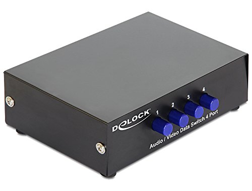 DELOCK Switch 4-port Audio / Video manuell bidirektional