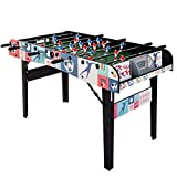 HLC 4ft Folding Foosball Table for Adults Kids Competition Sized Soccer Arcade Game Room Foosball Sports
