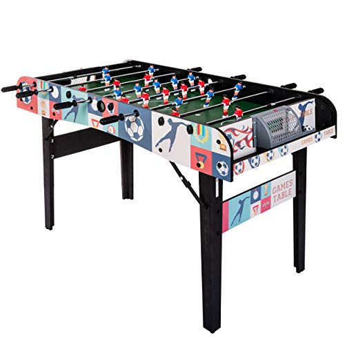 HLC 4ft Folding Foosball Table for Adults Kids Competition Sized...
