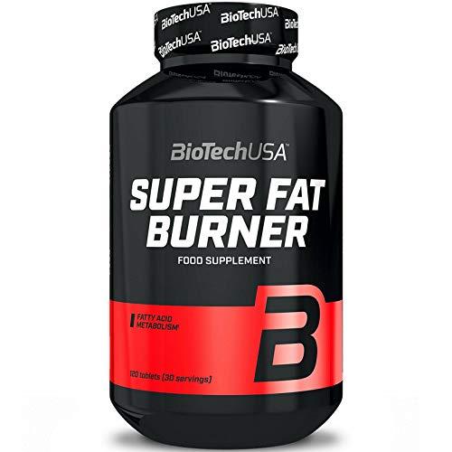BIOTECH USA SUPER FAT BURNER 120 TABLETTEN | Nicht stimulierend | Gewichtsverlust | Reduzierung des Fettgewebes | Schlankheitspillen
