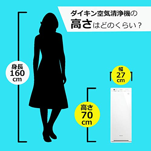 ダイキン空気清浄機【加湿機能付】DAIKINMCK40X-W