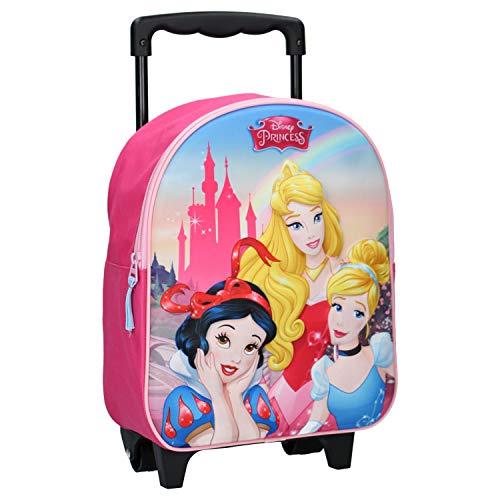 Disney Prinzessinnen 3D Trolley Rucksack für Kinder - Rosa