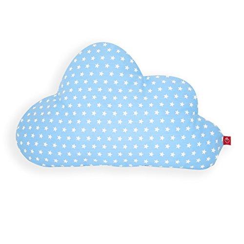 La Fraise Rouge 4251005602683 kussen wolk/geboortegeschenk, Pierre, lichtblauw met witte sterren