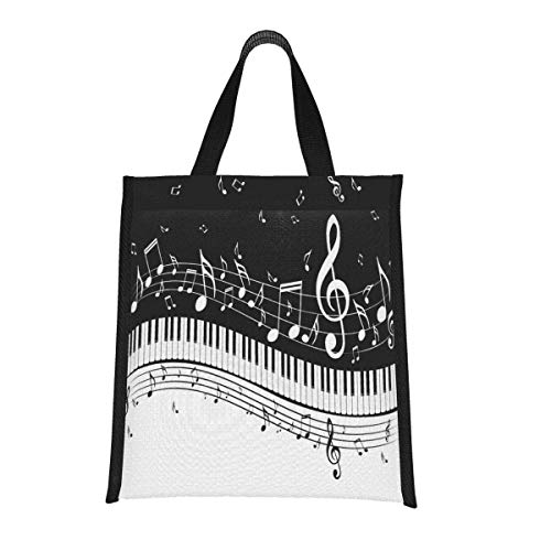 shenguang Deer in Autumn Forest Reusable Lunch Tote Bag Insulated Handbag with Aluminum Foil for Women, Men