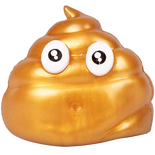 Hog Wild Sticky Golden Poo - Squishy Toy Splats and Sticks to Flat Surfaces - Assorted Styles - Age 4+