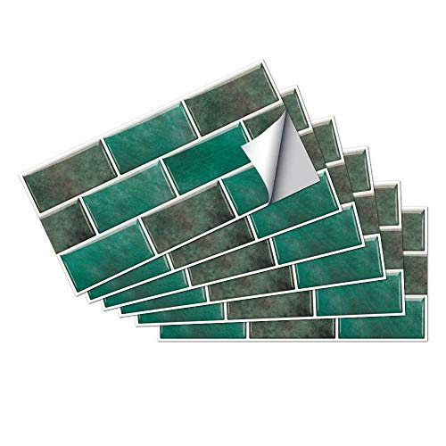 Azulejos Adhesivos Pasto VerdeVinilosCocinaAzulejosAntisalpicadurasVinilosBañoAzulejosImpermeableVinilosdeparedDecorativosPinturaparaAzulejosAdhesivodePared 15x30cm/6 pcs