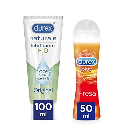 Durex Lubricante Naturals H2o + Lubricante Sabor Fresa - 100ml + 50ml