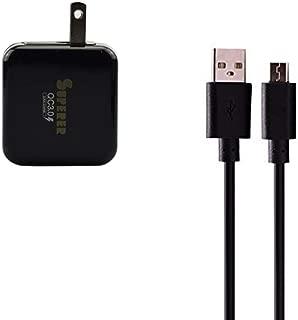 Quick Charge QC 3.0 Micro USB AC Charger for Sony Xperia X,XA,Z3+,Z5,M4 Aqua,XA Ultra,X Performance,Z2 Tablet,Z2 Tablet Wifi,Z3 Tablet Compact,Z3 Tablet Compact Wifi,Z4 Tablet, with Power Adapter Cord