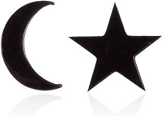 Tiny Moon and Star Stud Earrings for Women Teen Girls Crescent Moon Earrings
