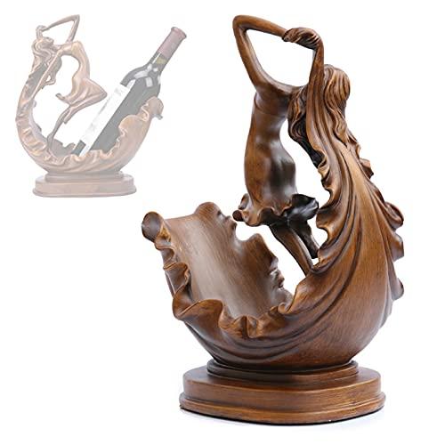Creativo Retro Sostenedor del Vino de Estante del Vino Bailaora Figura Decoracion Escultura del Hogar Interior Manualidades, Regalos para Los Amantes del Vino