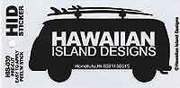ハワイアン雑貨/ハワイ雑貨 ハワイアン ワーゲンバス ステッカー (B-ブラック) 【お土産】