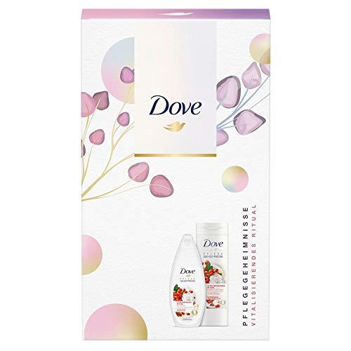 Dove Pflegegeheimnisse Geschenkset Vitalisierendes Ritual für gepflegte Haut mit Duschgel & Body Lotion (250 ml + 400 ml)