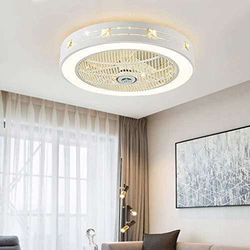 AI LI WEI Ventilador de Techo con luz LED y Mando Dormitorio Invisible Creativo Moderno de la Sala de atenuación habitación de los niños Habitación Salón de iluminación Decorativa, A (Color :