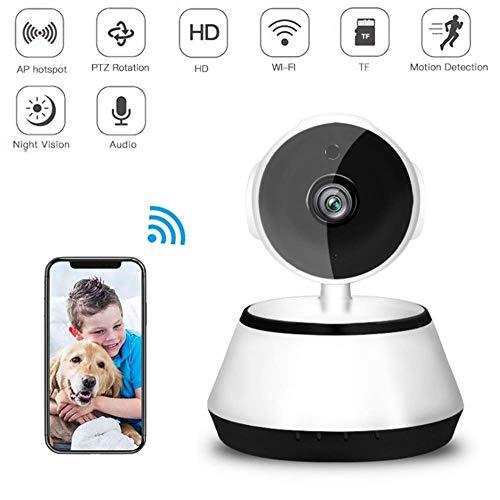 WAWZNN Huisdier Camera Draadloos, WiFi Afstandsbediening Hond Camera met Twee-weg Audio en Nachtzicht Full HD 1280x720p, App-Enabled en Cloud Opslag Huisdier veiligheid en Home Security