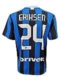 L.C. Sport Camiseta Inter Christian Eriksen 24 réplica autorizada para niño (tallas - Años 2 4 6 8 10 12) Adulto (S M L XL) (8/9 años)