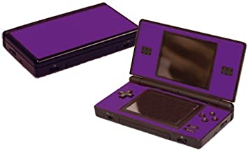 Poppin Purple Vinyl Decal Faceplate Mod Skin Kit for Nintendo DS Lite (DSL) Console by System Skins