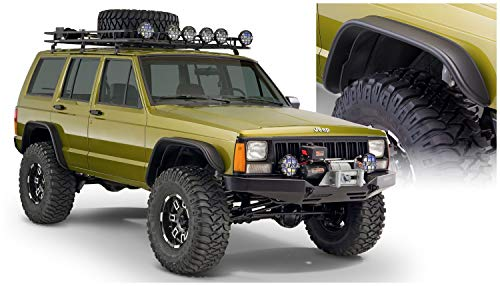 Bushwacker 10922-07 Jeep Flat Style Fender Flare - Set of 4