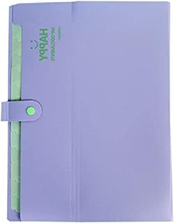 Moreoustitory Bestandsmappen uitbreiden 12 Pocket Accordeon Folder Organizer A4 Letter Grootte Plastic Snap Sluiting Papie...