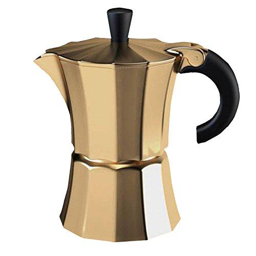 Gnali & Zani MOR003/GOLD Morosina Coffee maker 6 Tassen goldfarben Kaffeebereiter, Aluminium-Kunststoff