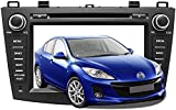 Android Car Stereo Radio with Carplay for Mazda 3 2010 2011 2012 2013,8 Inch HD Touchscreen Double Din Car Navigation with DVD Player,DSP,Bluetooth,Backup Camera and Microphone.